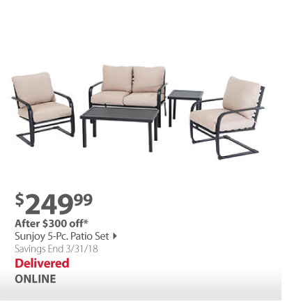 Sunjoy 5-pc patio set