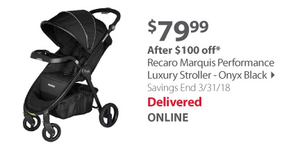 Recaro Marquis Performance Luxury Stroller - Onyx Black