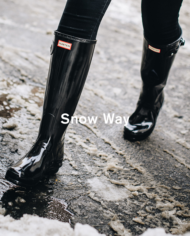 1abfe52671d9 The cold snap continues. Wrap up warm with insulating outerwear and cosy rain  boots from the Hunter Original collection.