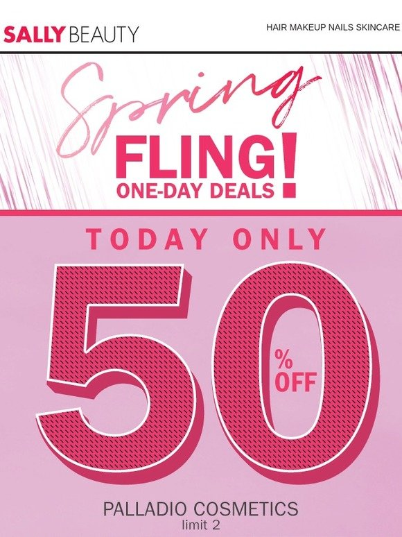 Sally Beauty Supply: Spring Fling Deal Of The Day: 50% Off