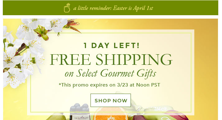 The fruit company hurry free shipping on easter gifts ends easter gifts negle Choice Image