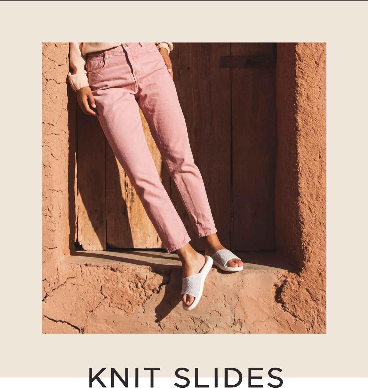 8fa1a105bbdb Teva  New Knit Slides