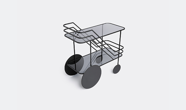 'Come As You Are' bar cart by Christophe de la Fontaine for Dante - Goods And Bads