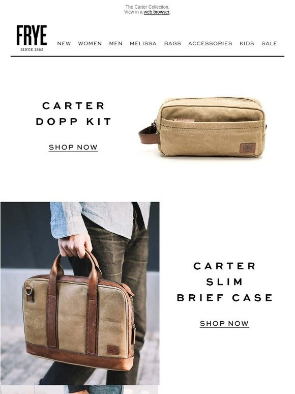 469150be6a The Frye Company  All the Bags He Needs