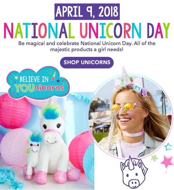 7ee7358a6b National Unicorn Day is April 9th-Shop Unicorns