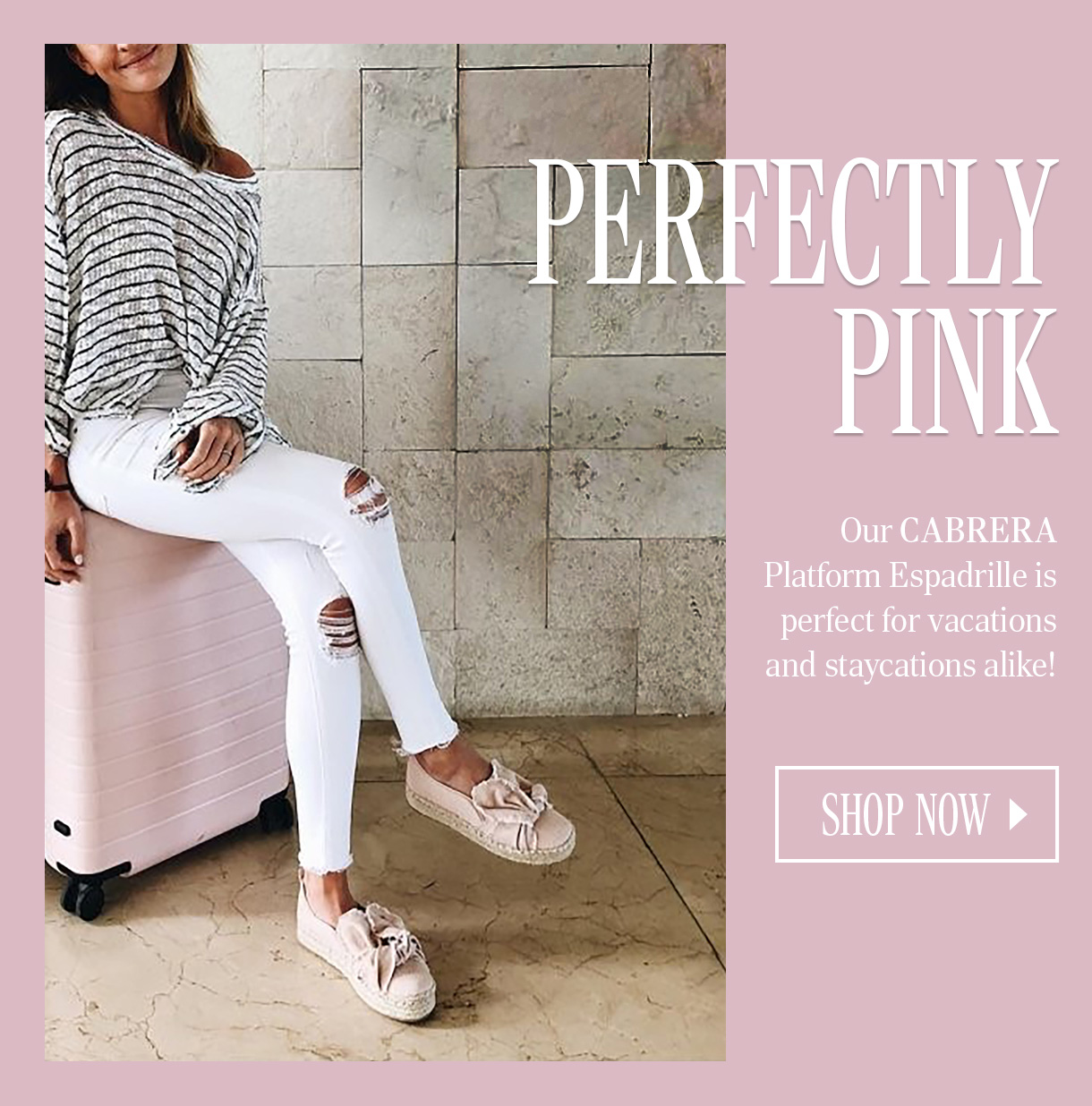 05dd9744d8df12 Our CABRERA Platform Espadrille is perfect for vacations and staycations  alike! SHOP