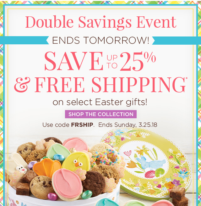 Cheryls free shipping up to 25 off all easter gifts milled save up to 25 and free shipping negle Choice Image