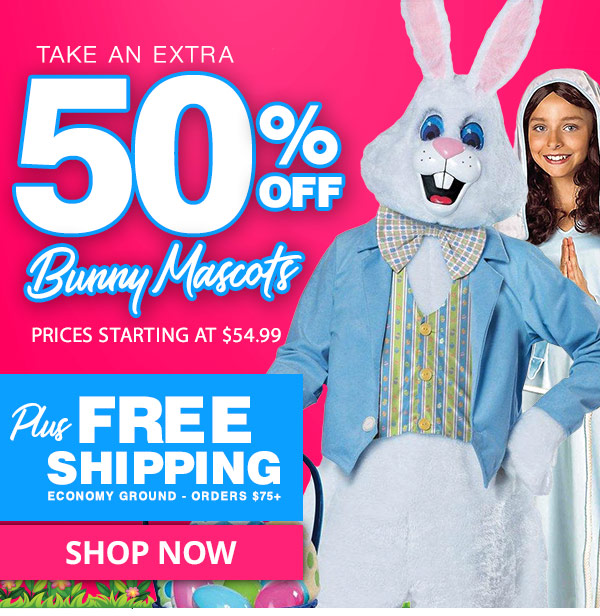 Costume SuperCenter LAST CHANCE 50% Off + Free Shipping on Easter Bunny Mascot Costumes | Milled  sc 1 st  Milled & Costume SuperCenter: LAST CHANCE: 50% Off + Free Shipping on Easter ...