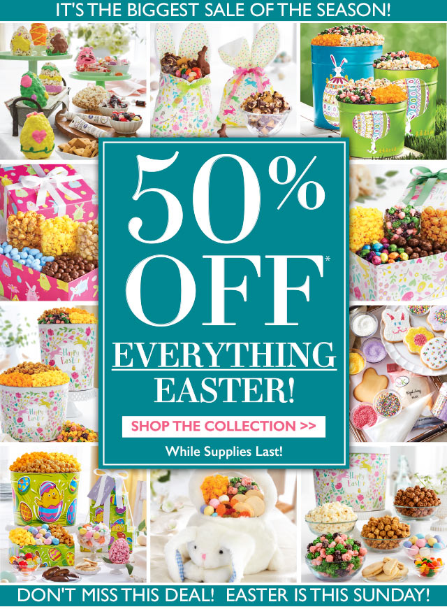 The popcorn factory blowout sale 50 off all easter gifts milled negle Choice Image