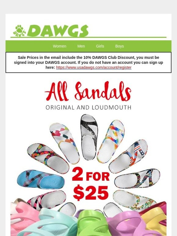 dawg shoes on sale