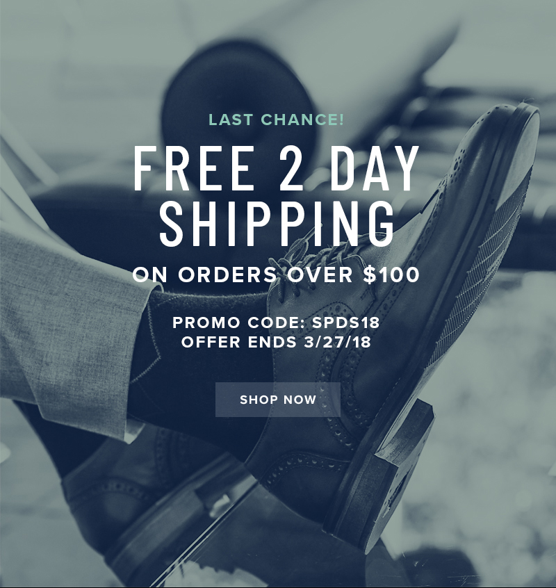 LAST CHANCE! FREE 2 day shipping on all orders over $100 when you use promo code SPDS18 during checkout. Display images to learn more!