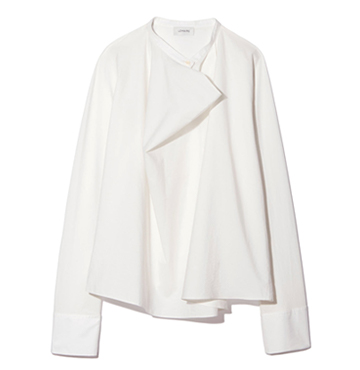 Long-Sleeve Stretch-Silk Blouse, Lemaire