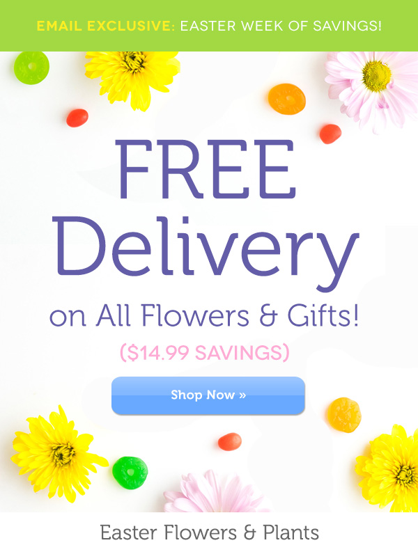 Fromyouflowers hop to it free delivery starts now milled free delivery on flowers gifts negle Choice Image