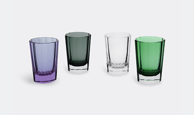 'Faceted' single Old Fashioned glass by Artel