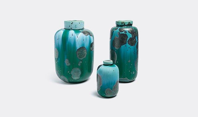 Crystalline vases by Milan Pekar Studio