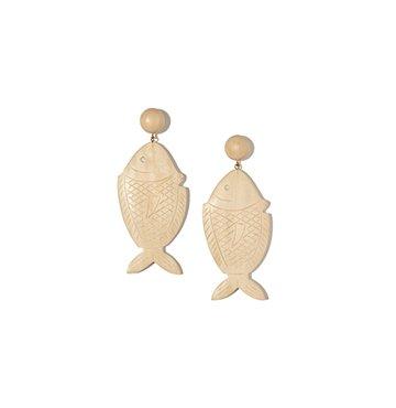 Rebecca De Ravenel Caspia Opal Wood Earrings $365