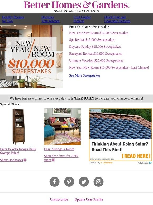 Better Homes And Gardens: Enter To WIN $10,000 In Cash U0026 Prizes From  Overstock.com | Milled