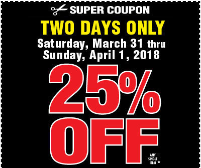 Harbor Freight Alert Your 25 Off Coupon Valid Now Milled