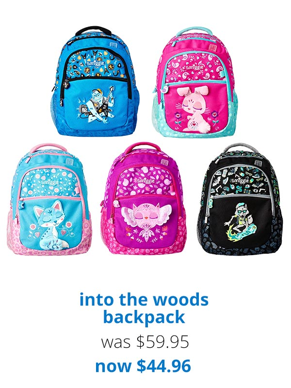 Smiggle  25% off all new backpacks! 🎒   Milled 412df127ec