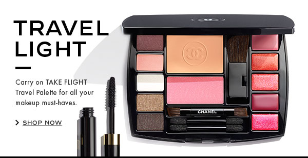 TRAVEL LIGHT. Carry on TAKE FLIGHT Travel Palette for all your makeup must-haves. SHOP NOW