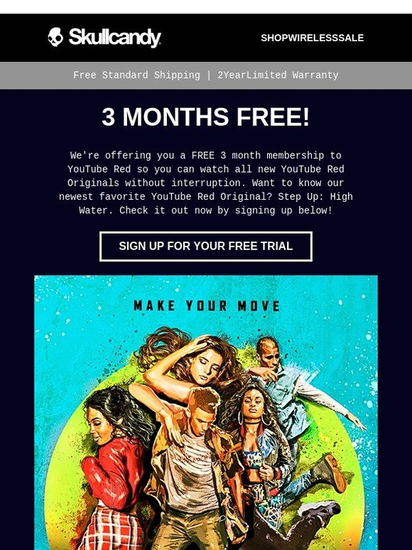Skullcandy: 3 Free Months to YouTube Red | Milled