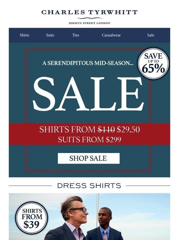 bb515069b4e0 Charles Tyrwhitt  S A L E  Shirts from  29.50