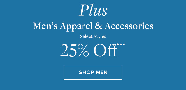 PLUS MEN'S APPAREL & ACCESSORIES | SHOP MEN