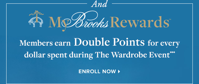 MY BROOKS REWARDS | ENROLL NOW