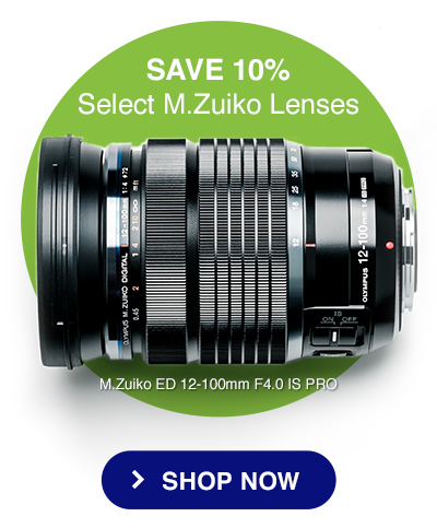 SAVE 10% - Select M.Zuiko Lenses