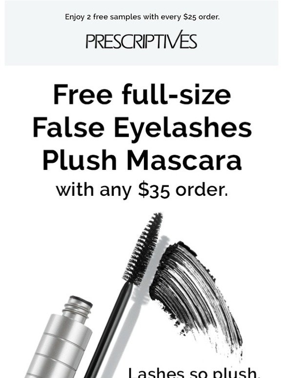 Prescriptives Get False Looking Lashes Without The Mess Free False