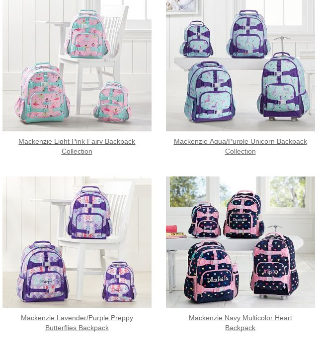 a8b319a7f827 Mackenzie Lavender Butterfly Backpack