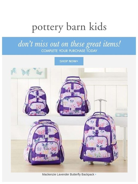 2af0571518 You re on our list — Mackenzie Lavender Butterfly Backpack + Up to 60% off  other favorites