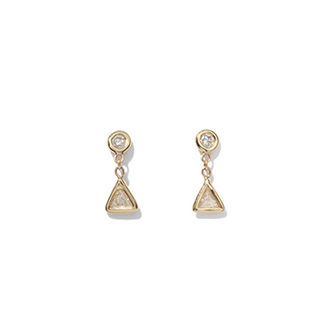 Jacquie Aiche Trillion Diamond Drop Studs
