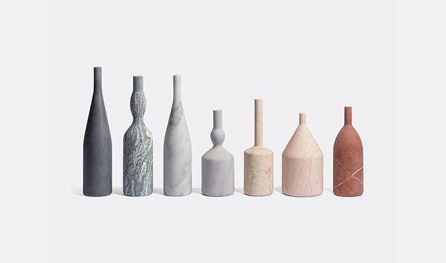 'Omaggio a Morandi' bottles by Elisa Ossino for Salvatori