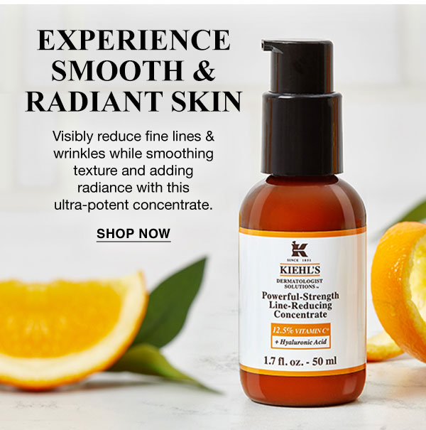 EXPERIENCE SMOOTH & RADIANT SKIN - Visibly reduce fine lines & wrikles while smoothing texture and adding radiance with this ultra-potent concentrate. - SHOP NOW
