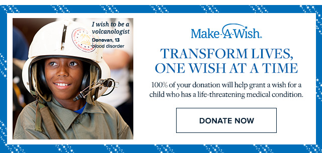 MAKE A WISH | DONATE NOW