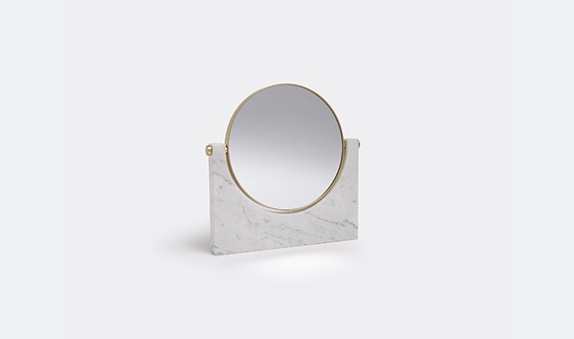 'Pepe' marble mirror by Studiopepe for Menu