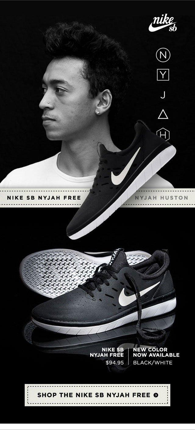 White Nike SB Nyjah Free Shoe Now