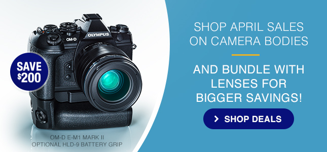 SHOP SALES ON CAMERA BODIES AND BUNDLE WITH LENSES FOR BIGGER SAVINGS!