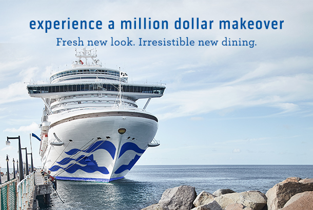 On Crown Princess After A Multi Million Dollar Makeover Experience These Exciting New Features Her Upcoming Mediterranean And Caribbean Sailings