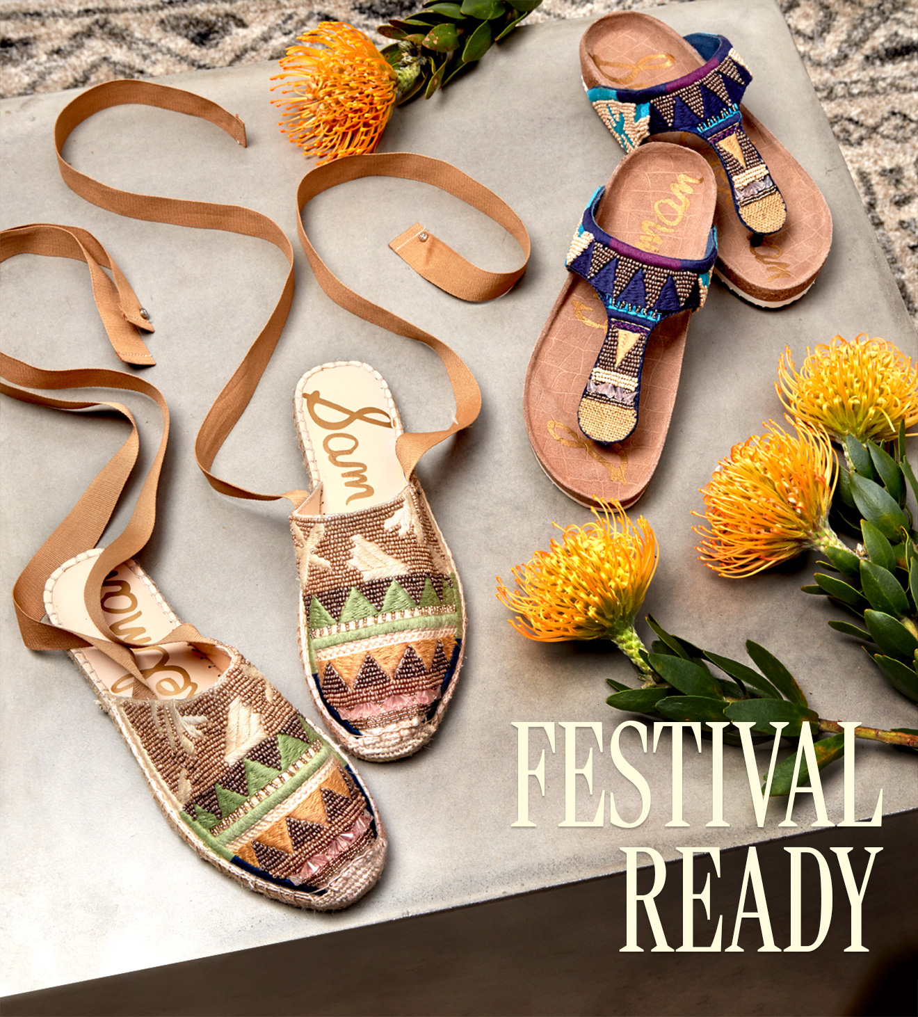 863ea4a1c Sam Edelman Shoes  Festival Chic  Beaded Espadrilles and Sandals ...