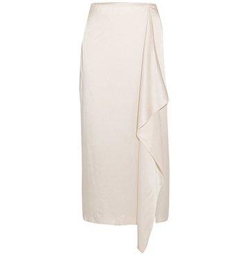 Stella McCartney Draped Satin Midi Skirt