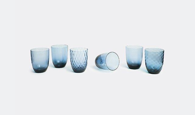 'Idra' water glass, set of six by NasonMoretti