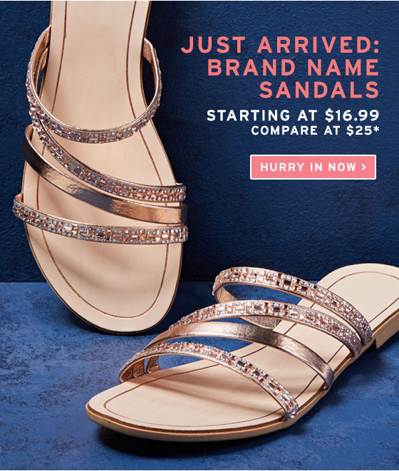 here! Sandals starting at $16.99!   Milled