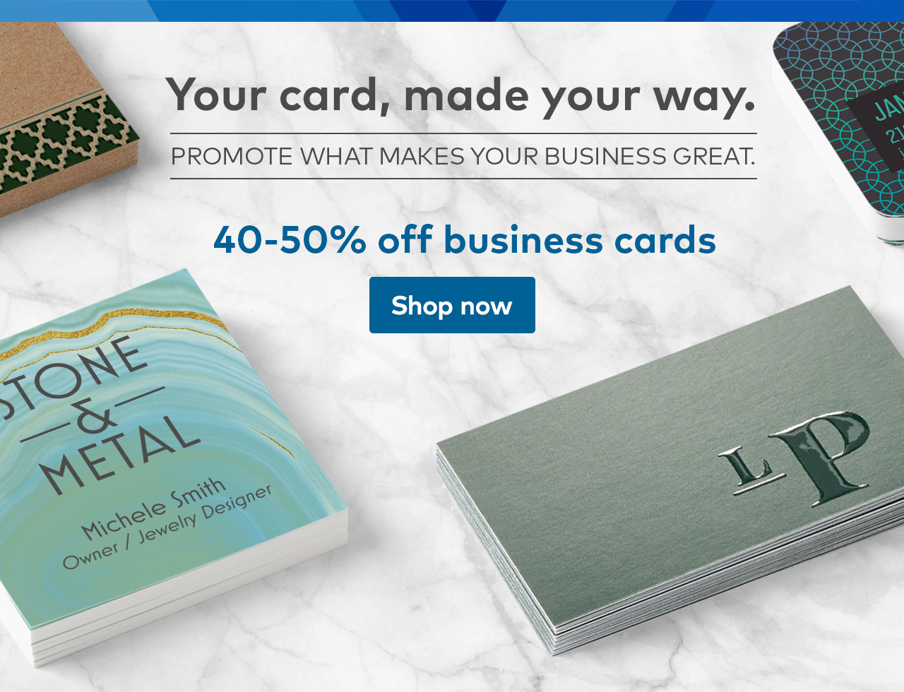 Vistaprint: Try premium business card options for only $5. | Milled