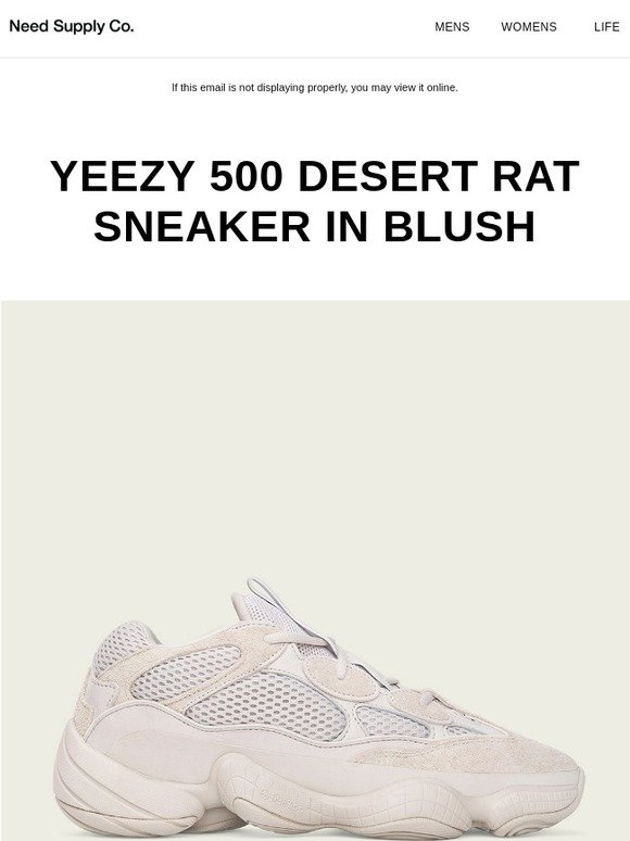 online store 78e99 ebe44 Need Supply Co.: YEEZY 500 Desert Rat Sneaker in Blush | Milled