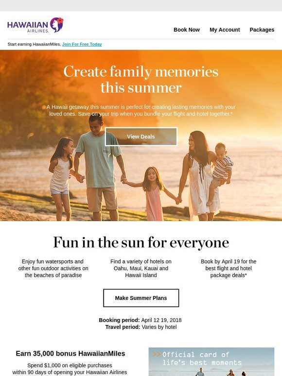 Hawaiian Airlines: Celebrate summer with a Hawaii family