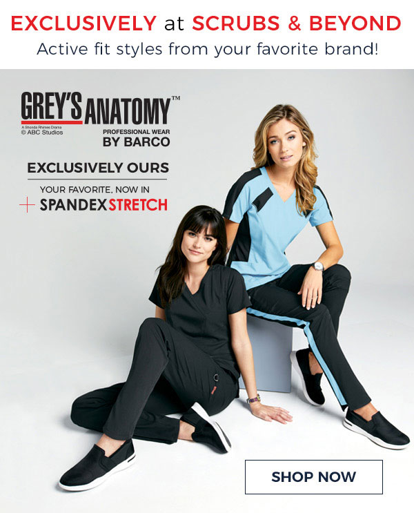 Life Uniform: Just In! NEW Grey\'s Anatomy Spandex Stretch | Milled