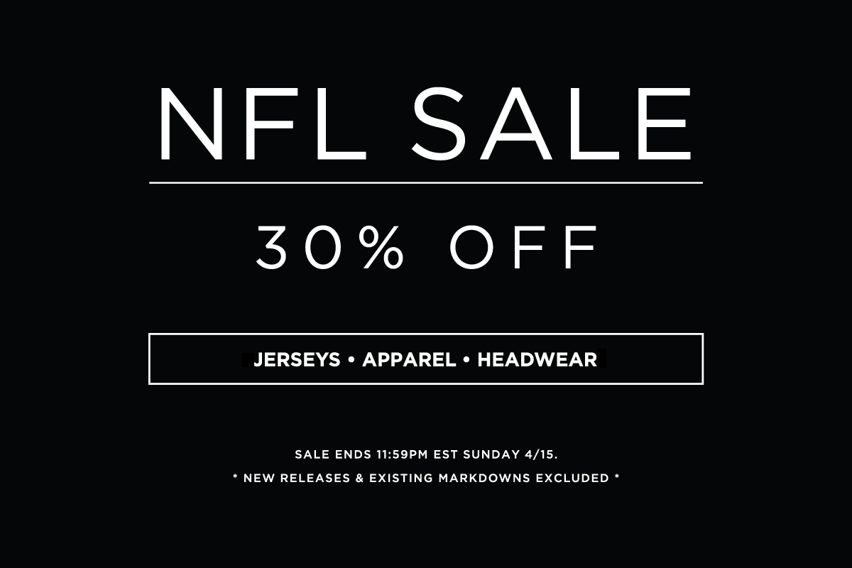 NFL Sale 30% Off