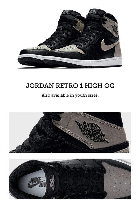new arrive 90ec0 110df Footaction : Jordan Retro 1 High OG 'Shadow' – available ...